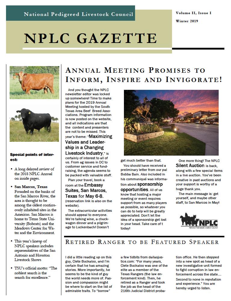 Winter NPLC Newsletter
